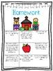 First Grade Year Long Homework Bundle