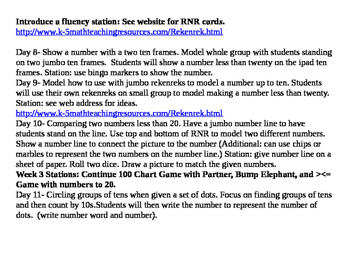 First Grade Year Long Math Lessons and Units Indiana CCR