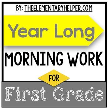 First Grade Year Long Morning Work