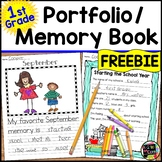 Yearlong Student Writing Portfolio and Memory Book for First Grade FREE SAMPLE