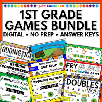 First Grade Powerpoint Game Bundle - Single License