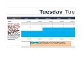First Grade Yearly Writing Calendar