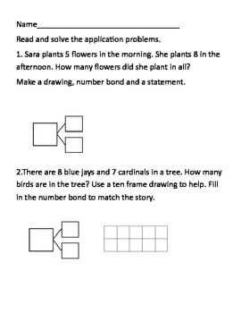 First Grade common core math worksheet