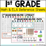 First Grade Math and Literacy Reference Sheet