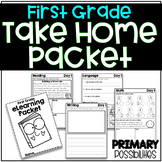 First Grade eLearning Take Home Packet Distance Learning