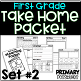 First Grade eLearning Take Home Packet Set 2 Distance Learning