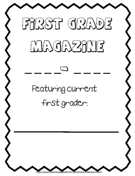 First Grade end of the year Magazine Memory Book
