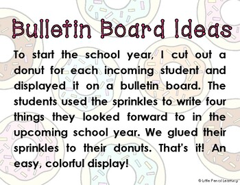 First Grade is Sweet! Donut Bulletin Board Pieces