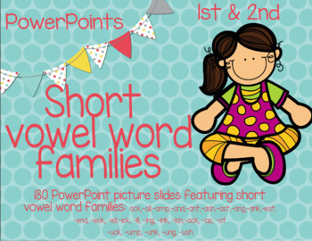 First Grade short vowel word families PowerPoint