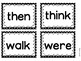 First Grade sight word flash cards (Word Wall)