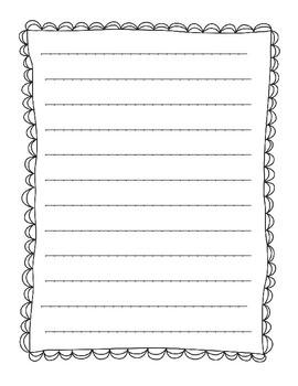 First Grade was a Blast Writing Paper w/ Organizer