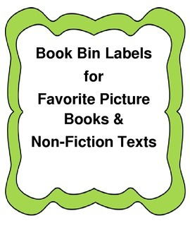 First GradeBook Bin Labels