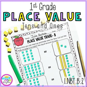 1st Grade Place Value: Tens and Ones- 1.NBT.B.2