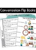 First Grader Wonders Unit 3 Week 1 Conversation Flip Books {ESL}