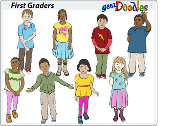 First Graders clip art for educators