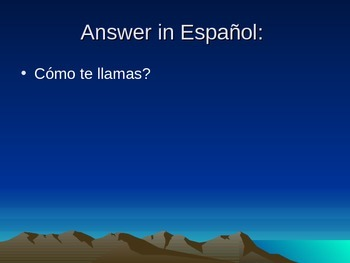 First Half of Spanish 1 Review PowerPoint