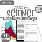 Earth Science Reading Comprehension {Bundle} 5th & 6th Grade Science (Digital)