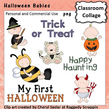 First Halloween - Color - personal & commercial use  costumes bee devil pumpkin