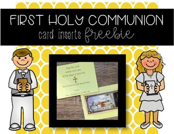 First Holy Communion Card Inserts