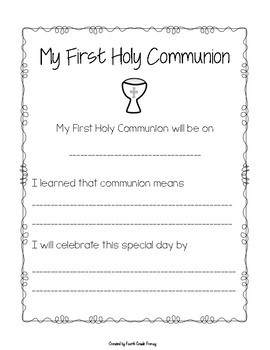 First Holy Communion Craft