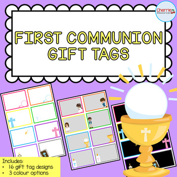 First Holy Communion Gift Tags EDITABLE