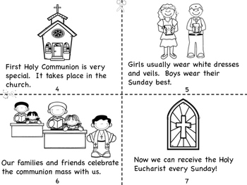 first holy communion coloring pages | First Holy Communion Mini Book and Coloring Pages by Miss ...