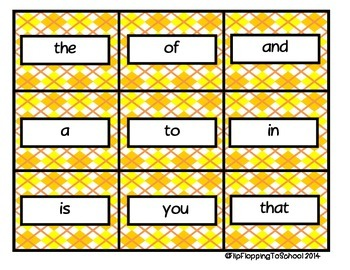 First Hundred Sight Word Printable Flashcards