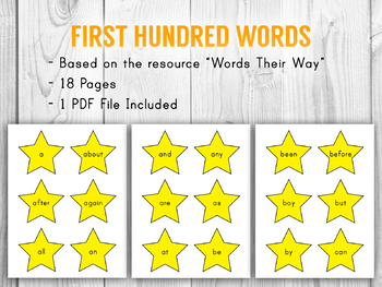 First Hundred Words - Star Motif
