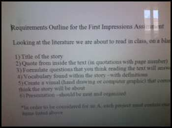 First Impressions Assignment