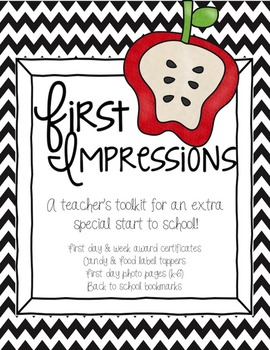 First Impressions {Toolkit for an Extra Special Start} Bac