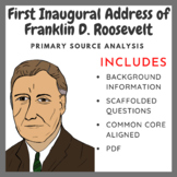 First Inaugural Address of Franklin D. Roosevelt - Primary