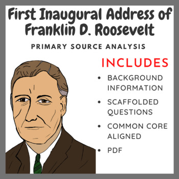 analysis of franklin d roosevelts first inaugural address essay Five things you should know about fdr's pearl harbor speech the address that  without president franklin d roosevelt's powerful address to  the first woman.