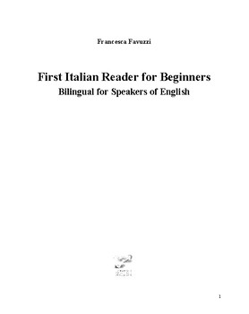 First Italian Reader for Beginners Bilingual for Speakers of English
