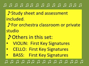 First Key Signatures for the VIOLIST