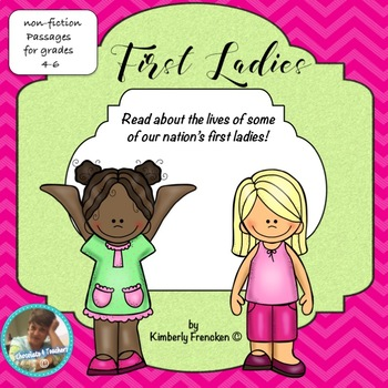 First Ladies: Non-Fiction Passages & Printables to Practice Reading Skills