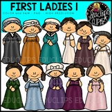 First Ladies of America 1 Clip Art Bundle {Educlips Clipart}