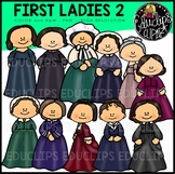 First Ladies of America 2 Clip Art Bundle {Educlips Clipart}