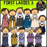 First Ladies of America 3 Clip Art Bundle {Educlips Clipart}