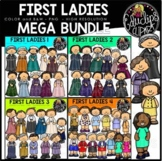 First Ladies of America Clip Art Mega Bundle {Educlips Clipart}