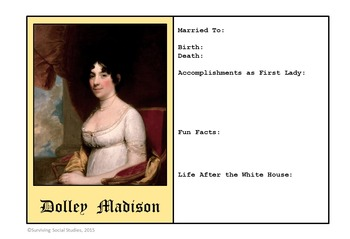 First Ladies of the United States - 45 Trading Cards to Complete