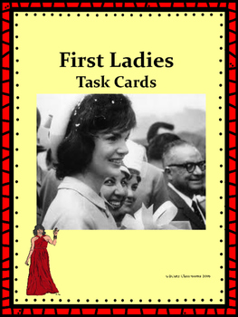First Lady Task Cards
