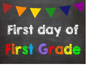 First & Last Day of School Bundle for 1st Grade - SAVE with a Bundle!
