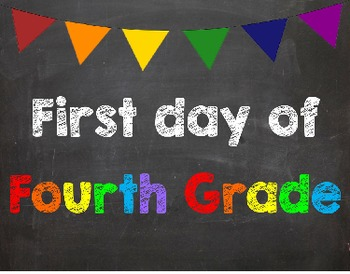 First & Last Day of School Bundle for 4th Grade - SAVE with a Bundle!
