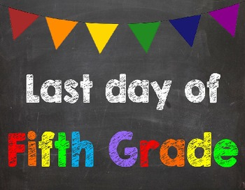 First & Last Day of School Bundle for 5th Grade - SAVE with a Bundle!
