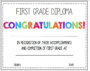 First & Last Day of School Bundle with 1st Grade Diploma - MEGA BUNDLE!