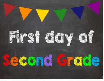 First & Last Day of School Bundle with 2nd Grade Diploma - MEGA BUNDLE!