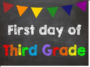 First & Last Day of School Bundle with 3rd Grade Diploma -