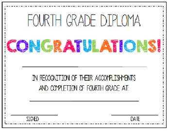 First & Last Day of School Bundle with 4th Grade Diploma - MEGA BUNDLE!