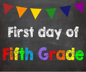 First & Last Day of School Bundle with 5th Grade Diploma - MEGA BUNDLE!