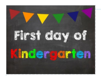 First & Last Day of School Bundle with Kindergarten Diplom